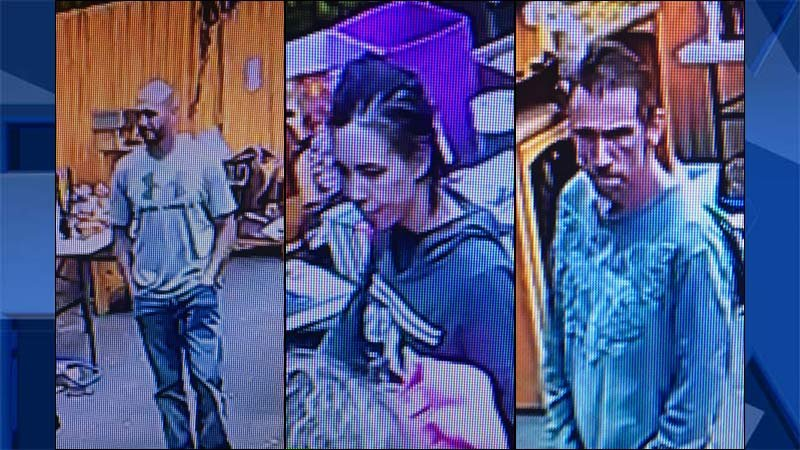 Surveillance images released by Cowlitz County Sheriff's Office.