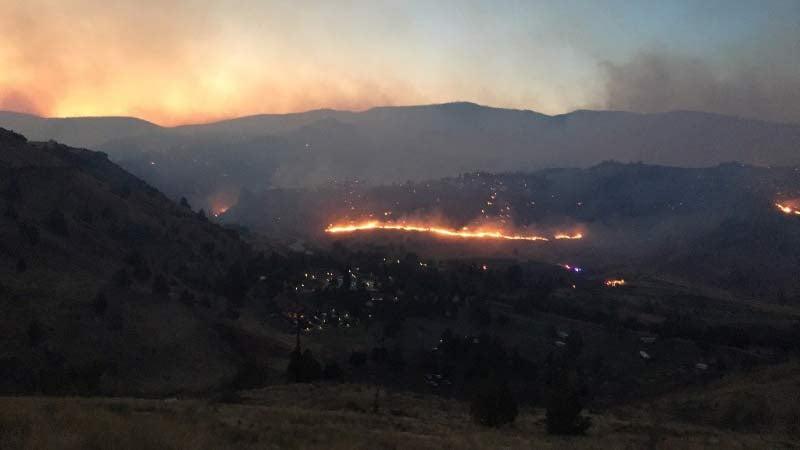 Nena Springs Fire (Photo: Oregon State Fire Marshal)