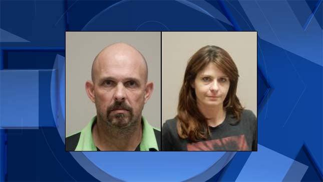 Jeffery Adams, Sarah Dorris (Jail booking photos)