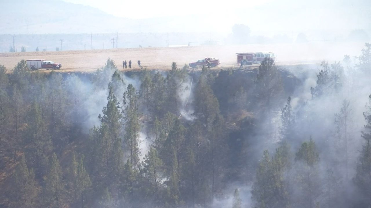 Plane crash scene near Madras. (KPTV)