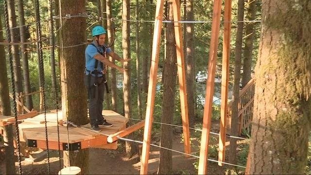 On the Go with Joe at Skamania Lodge Aerial Park