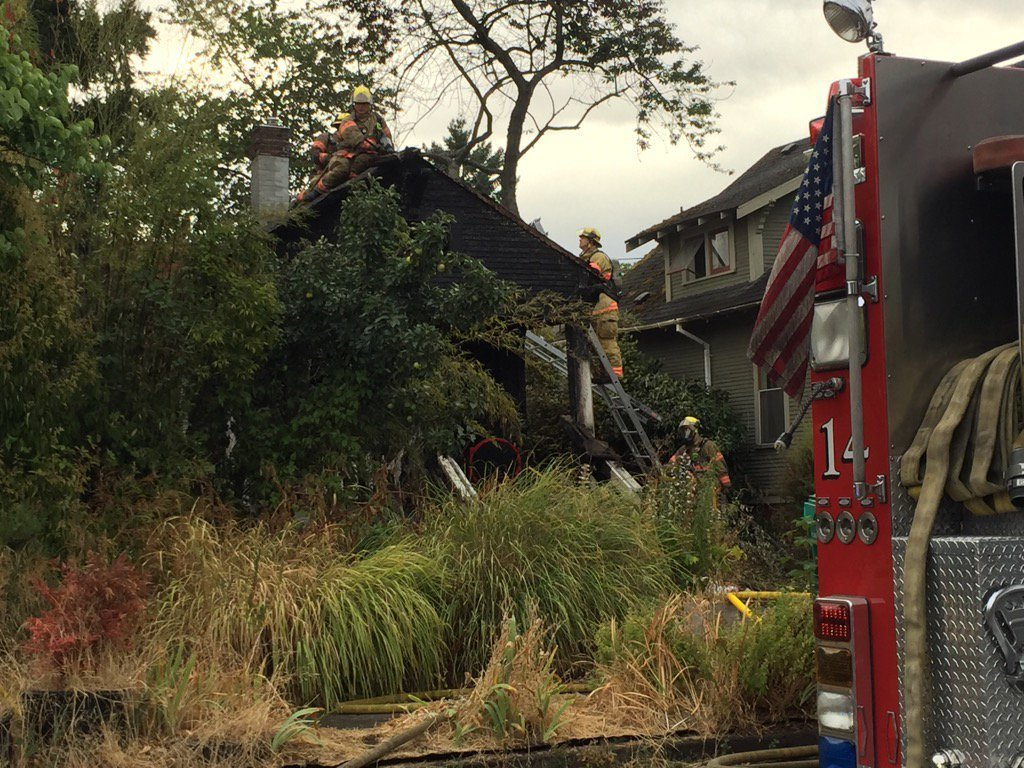 NE Portland house fire, KPTV image