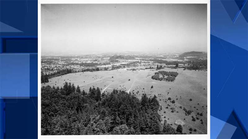 Historic image of Powell Butte area (PSU/Portland Water Bureau)