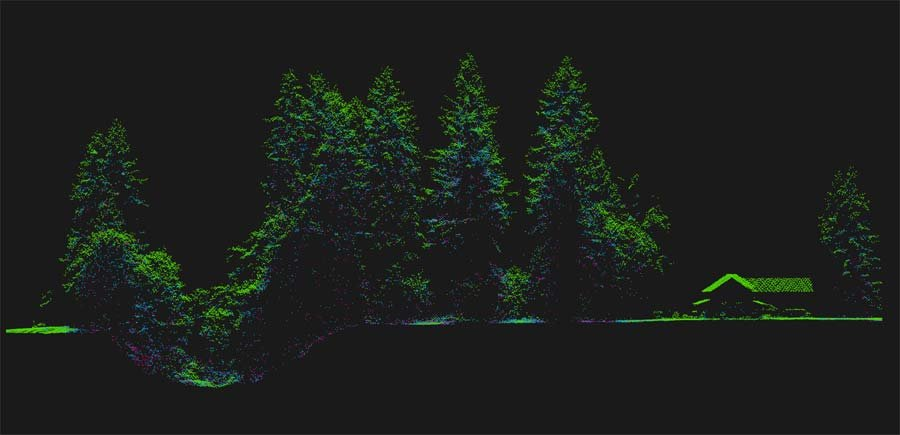LiDAR image showing technology used to map all the trees on CanopyStory.org. (Image: PSU)