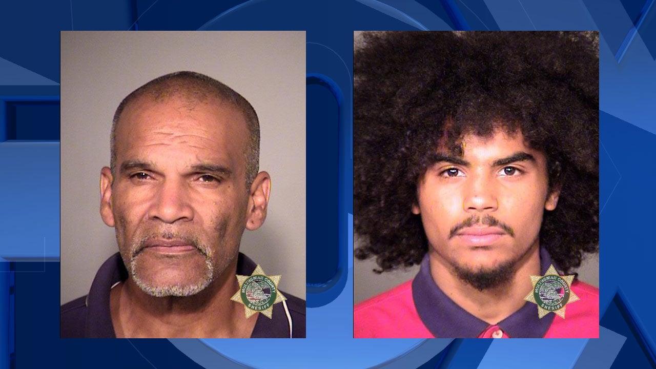 James M. Siberz (left) and Dennis R. Spencer, jail booking photos