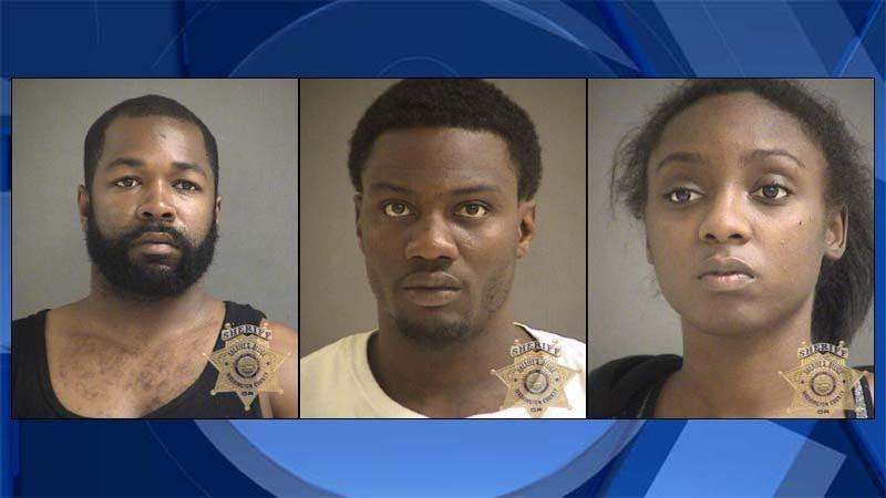 Brandon Rashad Sullivan, Darereon Lamar Newton, Shakira Scharmane Karriem (jail booking photos)