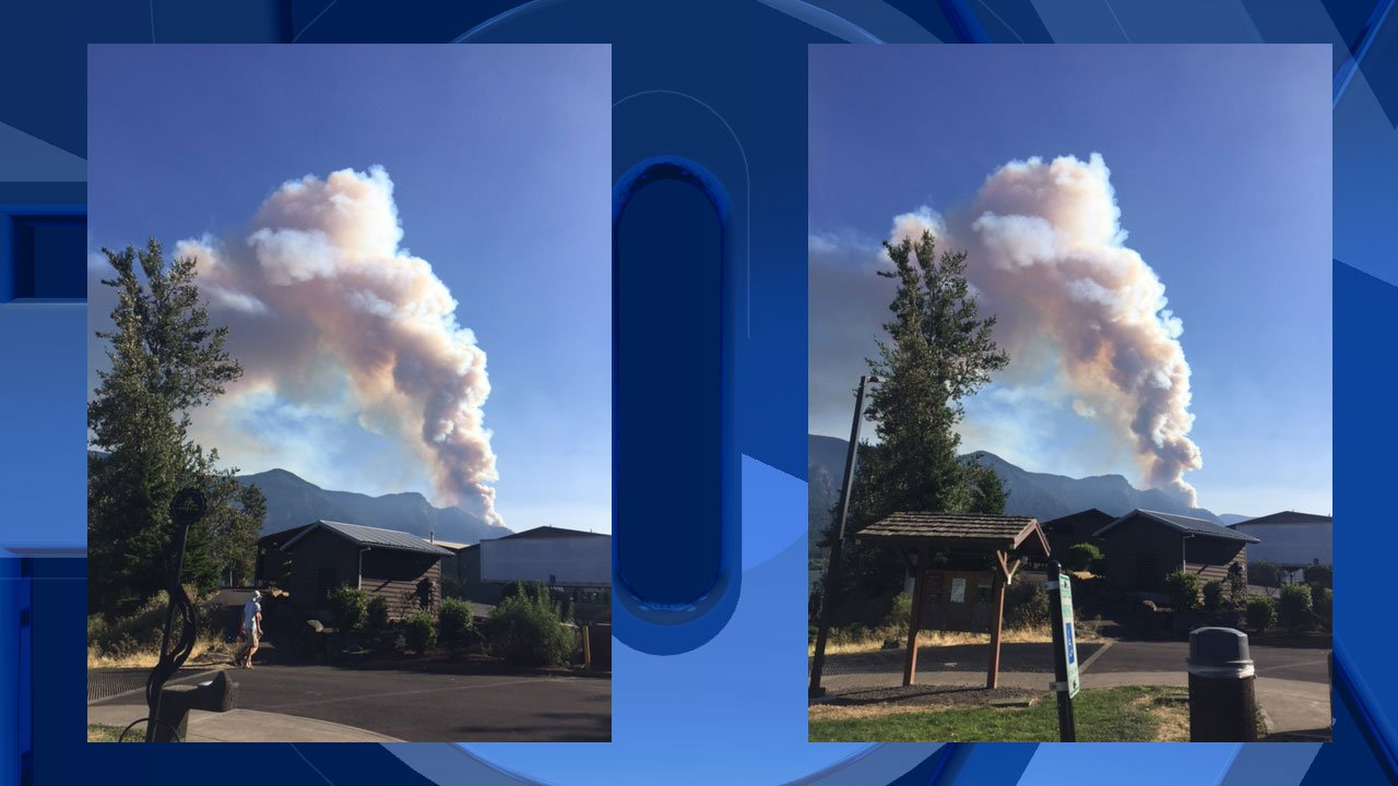 Gorge fire continues to rage