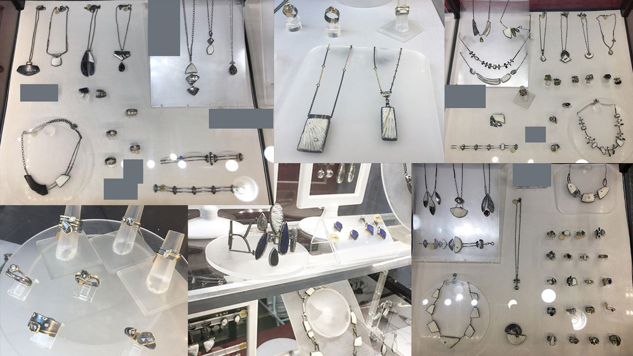 Some of the jewelry stolen from artist Janine DeCresenzo.