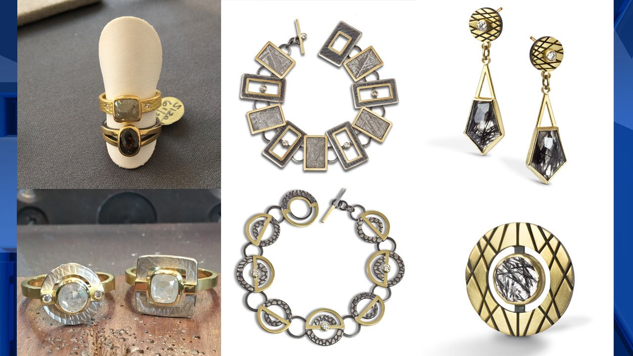 Some of the jewelry stolen from artist Megan Clark.