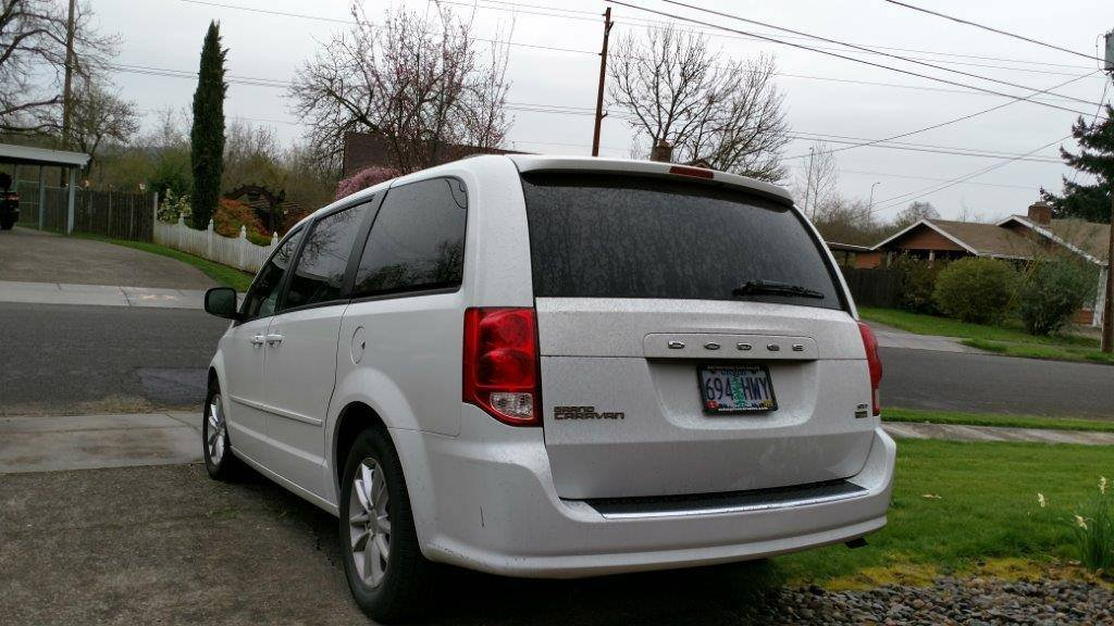 Beaverton police said a suspect they are looking for, Balasankar Santhalingam, may be living in his white Dodge Caravan minivan with Oregon license 694-HWY. (courtesy Beaverton Police Dept.)