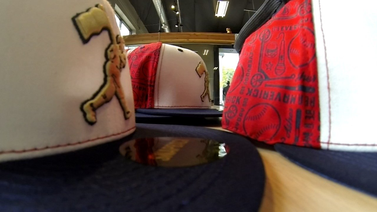 The Asher Davies hat at Baseballism. (KPTV)