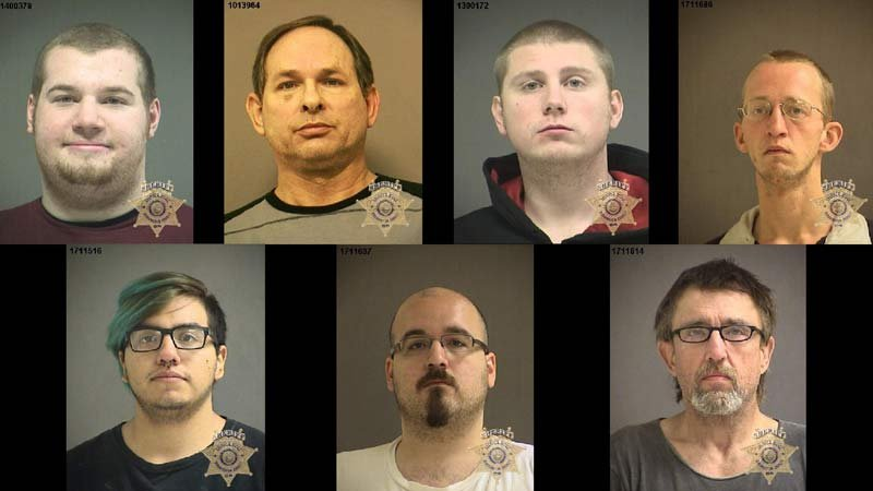 Jail booking photos released by Washington County Sheriff's Office.