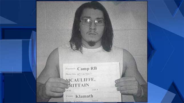 Brittain McAuliffe (Oregon Youth Authority booking photo)