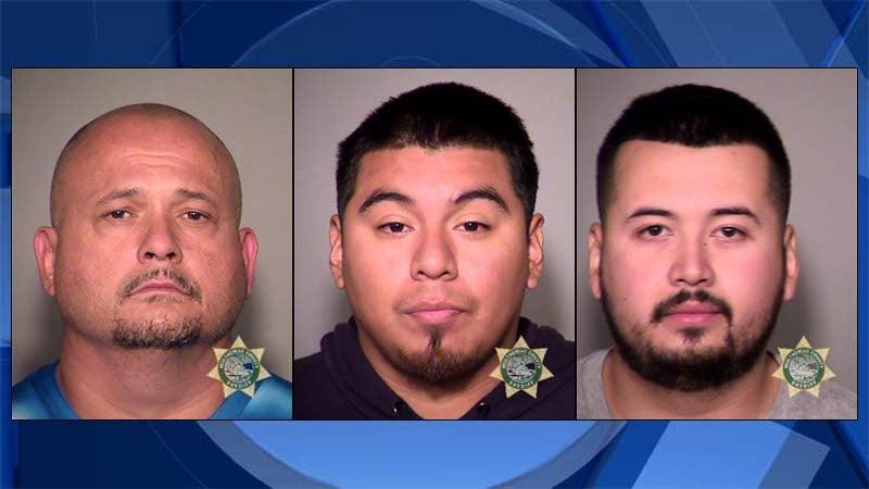 Francisco Poncho Alvarez, Marbello Modesto Guzman, Ulises Mayares Jr. (Jail booking photos)