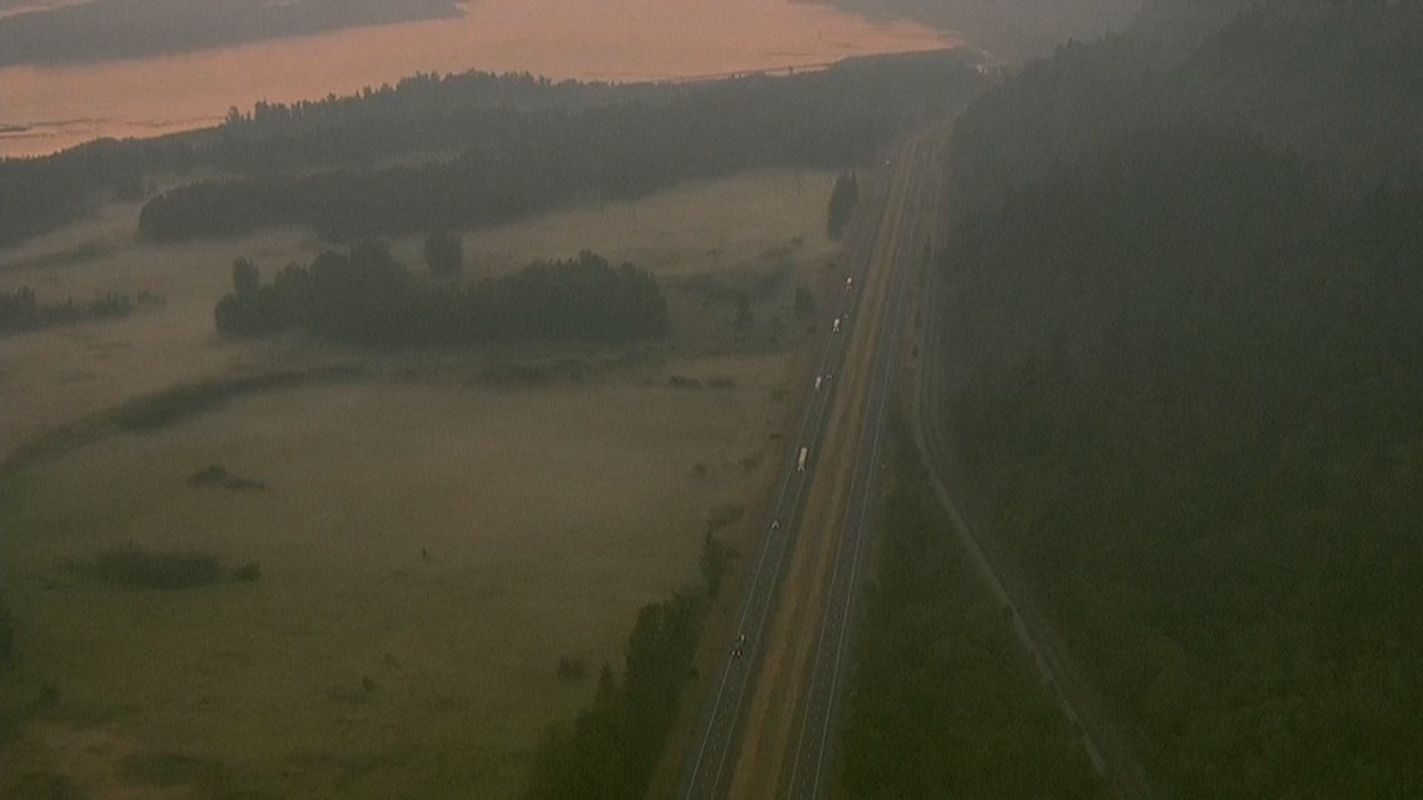 AIR 12 over Interstate 84. (KPTV)