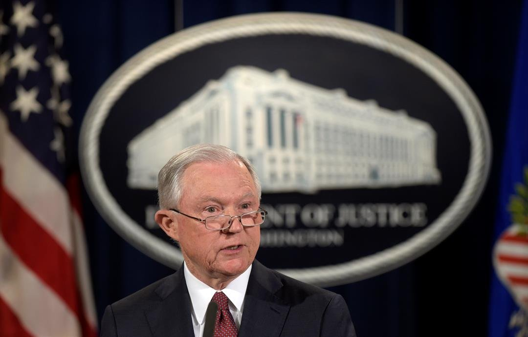 Attorney General Jeff Sessions makes a statement at the Justice Department in Washington, Tuesday, Sept. 5, 2017, on President Barack Obama's Deferred Action for Childhood Arrivals, or DACA program.  (AP image)