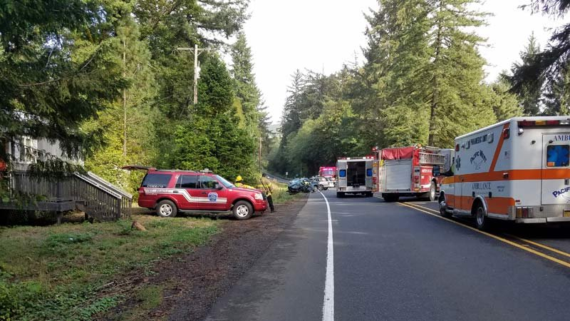 Deadly crash on Highway 18 near Otis. (Photo: Oregon State Police)