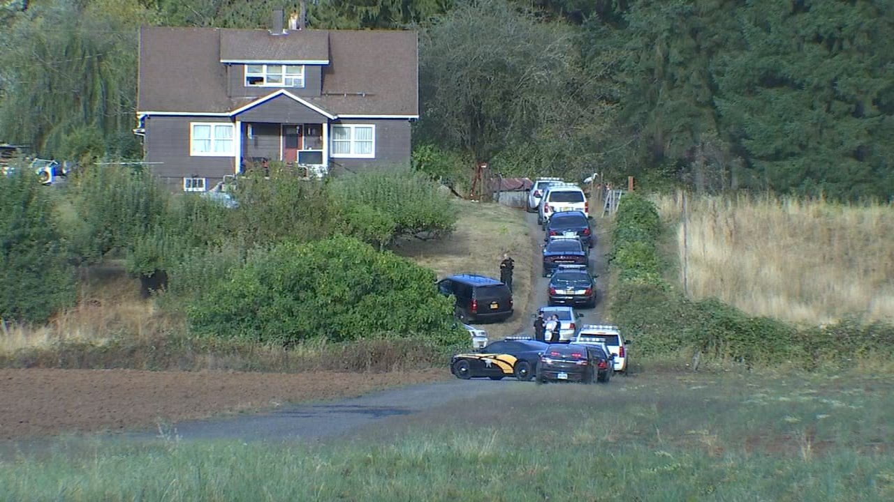 Scene of shooting investigation near North Plains. (KPTV)
