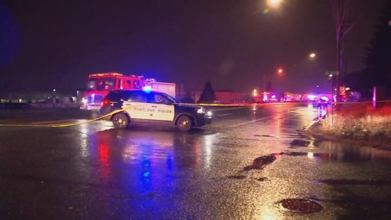 Deadly crash scene in NE Portland on Monday. (KPTV)