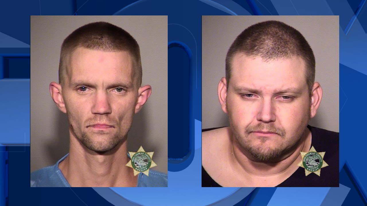 Greenslitt (left) and King (right), booking photos