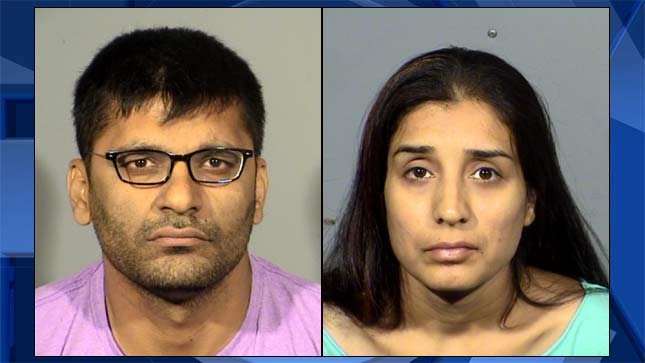 Neeraj Kohli and Shweta Kohli, jail booking photos out of Nevada.