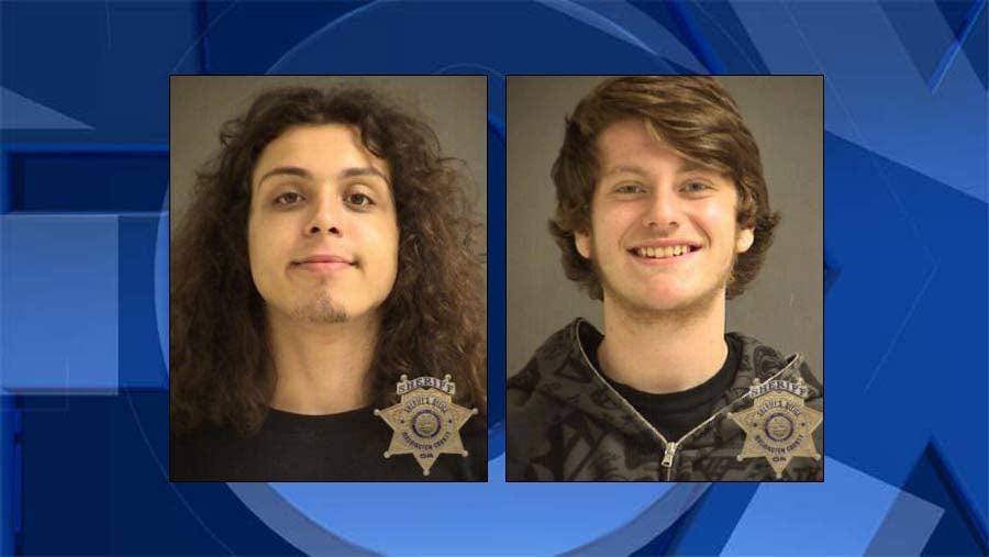 Gunnar Seay, Brandon Neubarth, jail booking photos