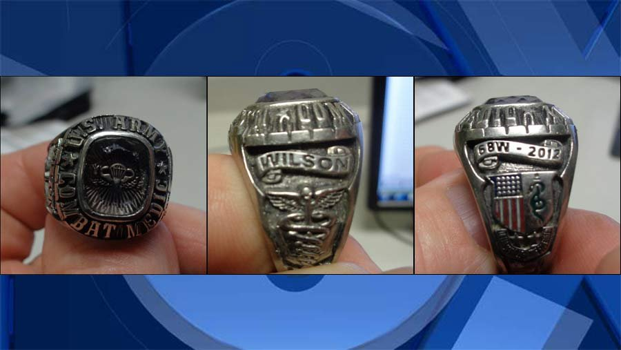U.S. Army combat medic ring (Photos: Clark Co. Sheriff''s Office)