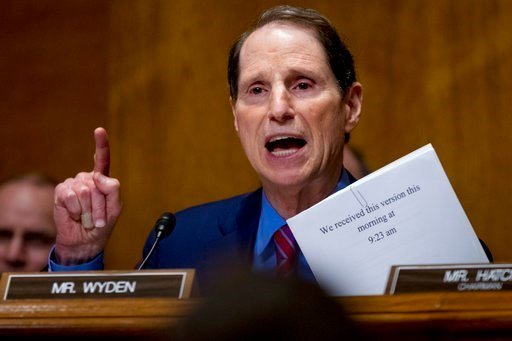 In this Sept. 25, 2017, file photo, Sen. Ron Wyden, D-Ore., speaks on Capitol Hill in Washington. (AP Photo/Andrew Harnik, file)