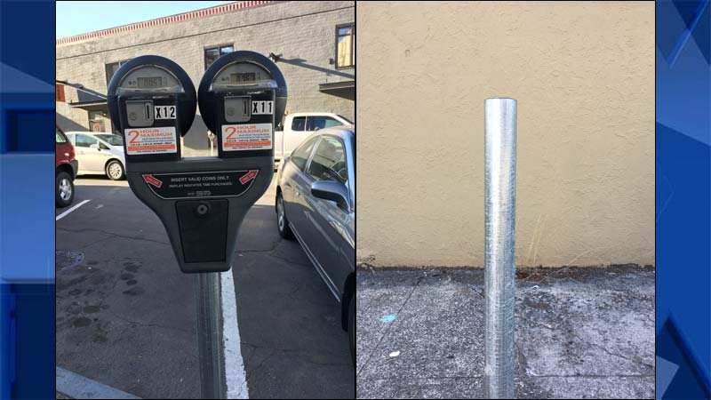 Parking meters are being stolen from the downtown area of Oregon City. (Images: Oregon City Police Department)