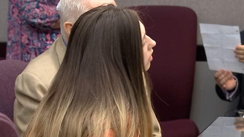 Mariah Molina in court Friday. (KPTV)