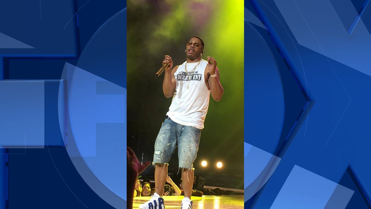 FOX 12 viewer photo of Nelly performing in Auburn Friday night