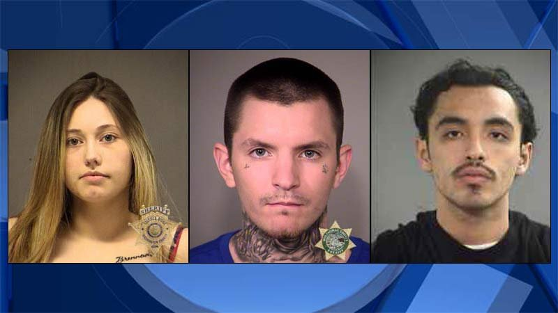 Mariah Lynn Molina, Brennan Chance Surface, Charlz Warbonnet (jail booking photos)
