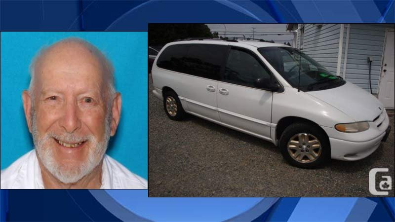 Robert Carton and a similar Dodge Caravan as the one he was last seen driving. (Images released by Portland Police Bureau)