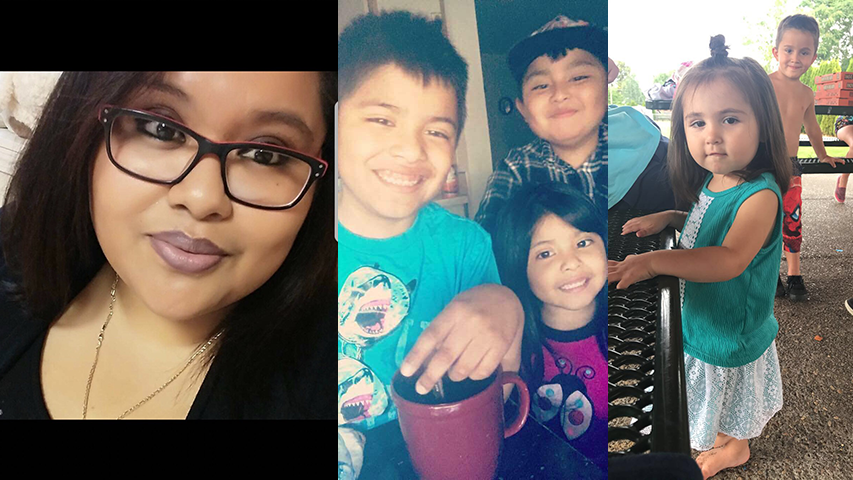 Lizette Medrano-Perez and her children, Ricardo, Andrus, Dayanara and her niece, Angelina Vazquez-Crisp. (Family photos)
