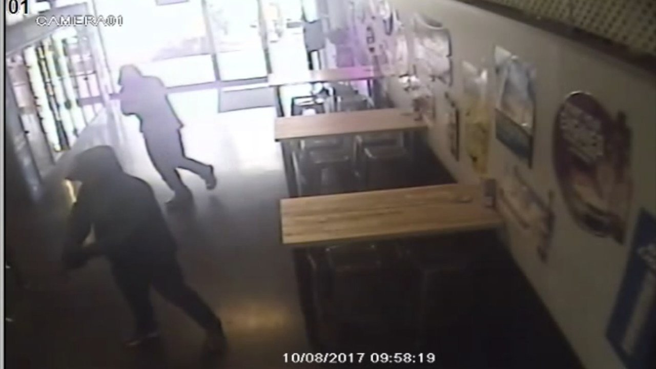 Surveillance image from robbery at Maddy's in Milwaukie area. (Clackamas County Sheriff's Office)