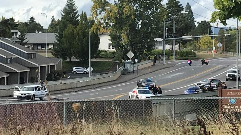 Small explosion in suspect's vehicle during OR traffic stop, police say