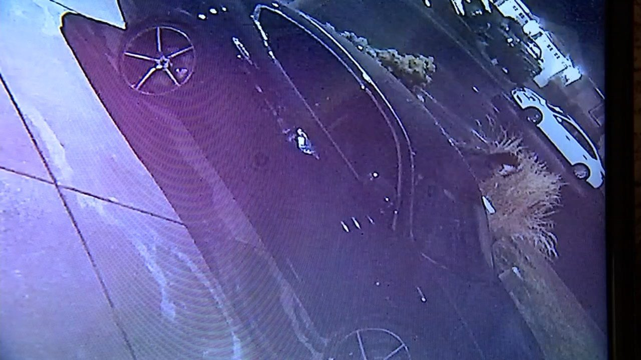Surveillance image of car prowler.