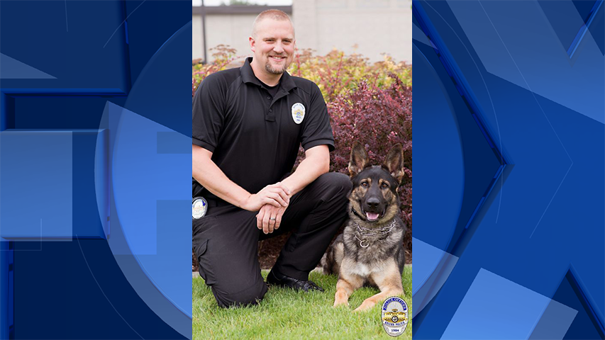 Officer Scott Keniston and K9 Bruno (Courtesy: Keizer Police Department)