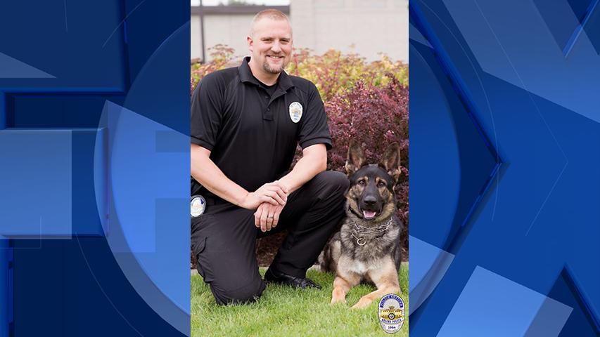 Officer Scott Keniston and K9 Bruno (Courtesy: Keizer Police Department)
