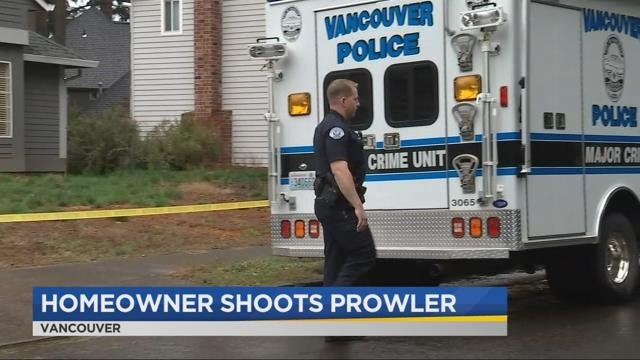 Police: Vancouver homeowner shoots prowler