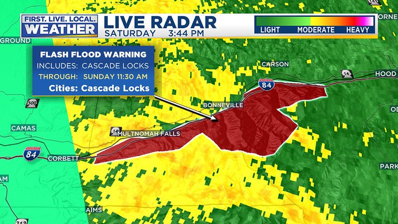 Flash flood warning issued for areas affected by the eagle creek kptv publicscrutiny Choice Image