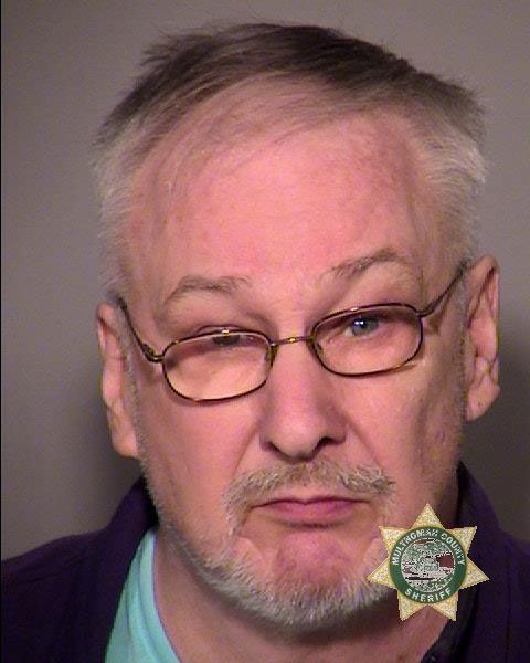 Mark Wann booking photo (Multnomah Co. Jail)