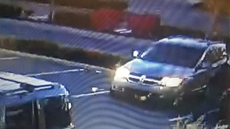 Suspect vehicle in gem theft investigation. (Surveillance image released by Hillsboro Police Department)