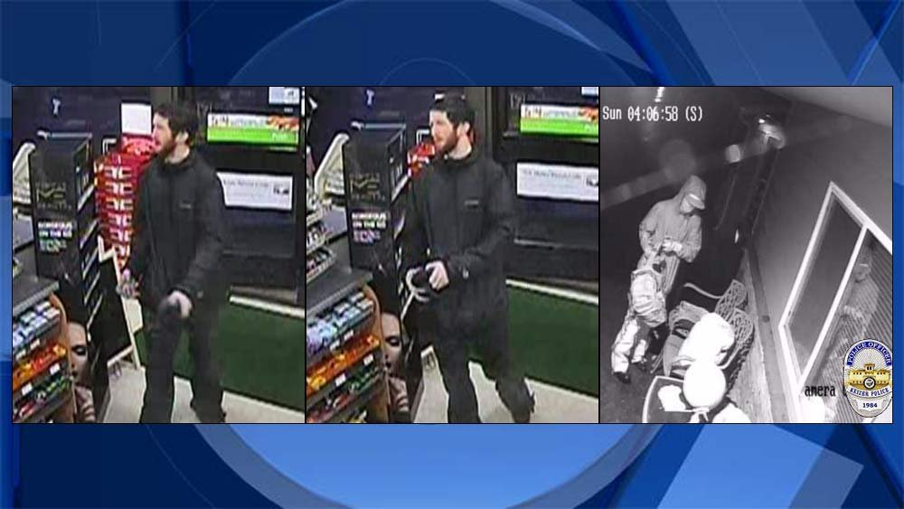 Surveillance images of burglary suspect released by Keizer police.