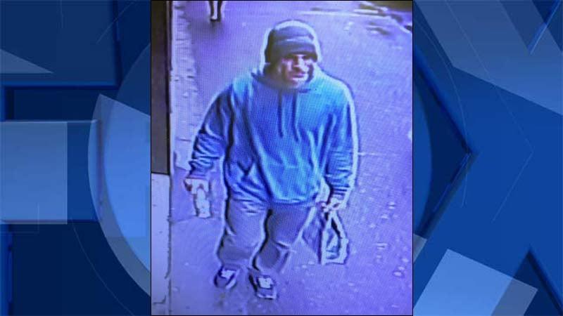Surveillance image of suspect released by Portland Police Bureau.