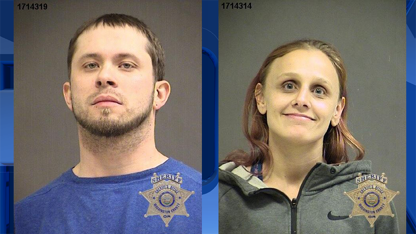 Cody Benton and Lynsey Picket, jail booking photos (Courtesy: Washington County Jail)