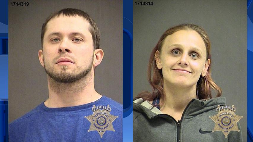 Cody Benton and Lynsey Picket, jail booking photos (Courtesy: Washington County Jail)