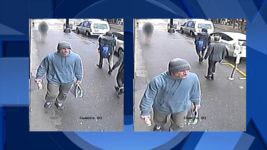 Surveillance image of suspect released by Portland Police Bureau