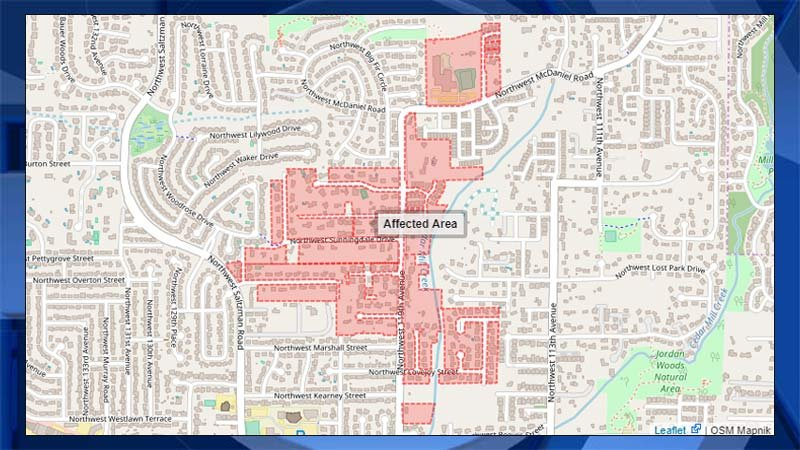 A boil water notice was lifted for 229 homes near Northeast Sunningdale and 119th in the Tualatin Valley Water District area. (Map: Tualatin Valley Water District)