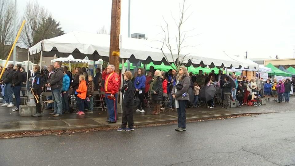 Veterans Day Parade in NE Portland